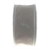 Ditipo Fabric ribbon with wire gray 3 mx 25 mm