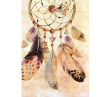 Nekupto Gift paper bag large 32.5 x 26 x 13 cm Dream catcher 1886 01 KFL