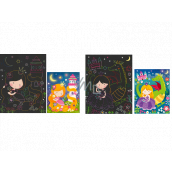 Scratching pictures Princess 16.5 x 21 cm 2 sheets