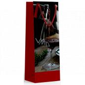 Nekupto Gift paper bag for bottle 10 x 33 x 9 cm Wine glass 1899 30 KFLH