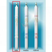 Lima Church baptismal candle white with gold decoration No. 1001 25 x 360 mm 1 piece