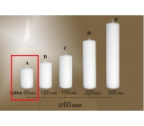 Lima Gastro smooth candle white cylinder 60 x 90 mm 1 piece