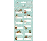 Arch Christmas Labels Stickers Sovicky Green Sheet 707 12 Labels