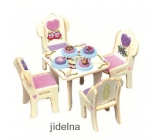 Mini Dream Home Wooden puzzle dream furniture 03 Dining room 20 x 15 cm