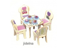 Mini Dream Home Wooden puzzle furniture dream 03 Dining room 20 x 15 cm