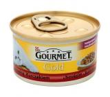Gourmet Gold Cat Hovězí a kuře konzerva pro dospělé kočky 85 g