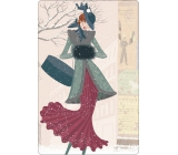 Bohemia Gifts & Cosmetics Aromatická vonná karta Zima 10,5 x 16 cm
