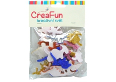 CreaFun Self-adhesive decoration Dino Eva with glitter mix of colors 37 x 30, 65 x 40 mm 40 pieces
