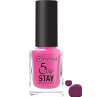 Dermacol 5 Day Stay Long-lasting nail polish 39 Wild Berry 11 ml