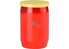 Oil candle red yellow cap 29 h. 100 g