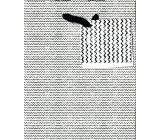 Nekupto Gift paper bag small 14 x 11 x 6,5 cm Black & white 1616 02 KFS