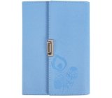 Block in PU cover - blue