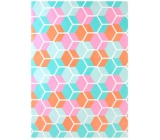 Ditipo Wrapping paper turquoise pink orange 2 mx 70 cm