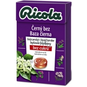 Ricola Black without Swiss herbal candies without sugar with vitamin C from 13 herbs 40 g