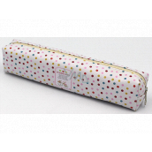 Nekupto Home Decor Pen case polka dots 18 x 4 cm 1 piece