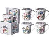 Christmas ceramic mug design snowman mix in a 360 ml box