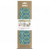 Apli Cut & Patch paper for napkin technique Green-blue motif 30 x 50 cm 3 pieces