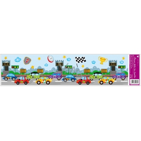 Room Decor Window foil without glue strip race track 64 x 15 cm