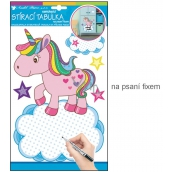 Room Decor Sticker writing table with marker unicorn 34 x 21 cm 1 arch