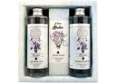 Bohemia Gifts & Cosmetics Boho style & Gentleman Ulva lactuca Seaweed Extract Shower Gel 250 ml + Toilet soap 145g + Hair Shampoo 250 ml