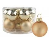 Sada skleněných baněk zlatých 2,5 cm 12 ks