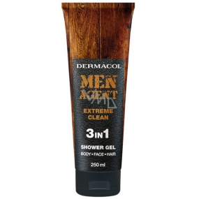 Dermacol Men Agent 3in1 Extreme Clean Shower Gel 250 ml tube