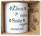 Bohemia Gifts Ceramic mug with print Life is uncertain. Eat dessert 350 ml first