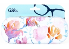 Albi Original Case for glasses glasses Flowers 15.7 x 6.2 x 3.2 cm
