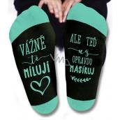 Nekupto Family gifts with humor Socks I really love you, size 39-42