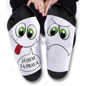 Nekupto Family gifts with humor Socks I'm the right one, size 43-46