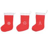 Plush stocking Santa Claus red 40 cm 1 piece