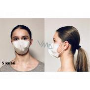 Crdlight Respirator FFP2 face mask for children Junior white 5 pieces