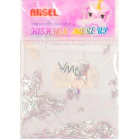 Angel Nail decorations ribbons silver 2 g