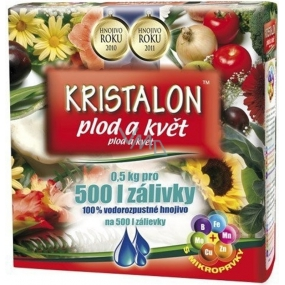Agro Kristalon Fruit and flower water-soluble universal fertilizer 0.5 kg for 500 l of watering