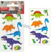 Tattoo decals colored children's Little dinosaurs 10.5 x 6 cm