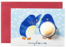 Bomb Cosmetics Veselé Tučňáčí Vánoce Vánoční přání s balistikem 50 g