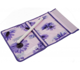 Pocket for hanging purple 43 x 24 cm 4 pockets 711