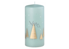 Arome Trees candle turquoise cylinder 70 x 150 mm 410 g