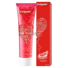 Colgate Dare To Love red toothpaste contains cooling soluble crystals in the shape of a heart 98 ml