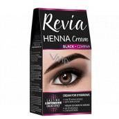 Revia Henna eyebrow color, cream 15 ml + activator 15 ml, 01 Black