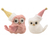 Owl in a plush cap 10 cm on a clip