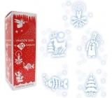 Vánoční sníh ve spreji s 10 šablonami 150 ml