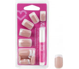 Diva & Nice Adhesive nails French manicure with glue 24 pieces NFD04-CBP