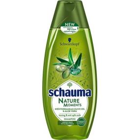 Schauma Nature Moments Mediterranean Olive Oil and Aloe Vera Regenerating Anti-Fingering Hair Shampoo 400 ml