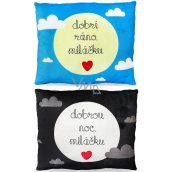 Albi Humorous pillow large Good morning / Good night 36 cm × 30 cm