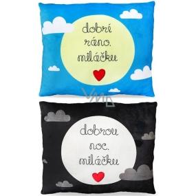 Albi Humorous pillow large Good morning / Good night 36 cm × 30 cm