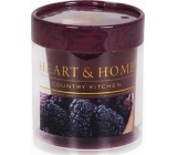 Heart & Home Juicy mulberries Soybean Scented Candle burns up to 15 hours 53 g