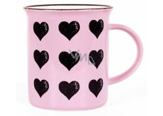 Albi Ceramic tin Hearts pink 320 ml