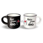 Pair Mini Cups UNI NPH 006 Said / I said YES