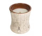 WoodWick Fireside - Fire in the fireplace scented candle with wooden wick and lid glass small 85 g